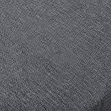 WOLTU TD3044gr Tischdecke Tischtuch Leinendecke Leinen Optik Lotuseffekt Fleckschutz pflegeleicht abwaschbar schmutzabweisend Farbe & Größe wählbar Eckig 130x260 cm Grau - 2