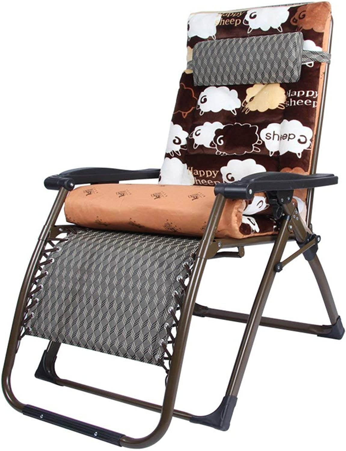 Rocking Chairs Folding Chair Zero Gravity Lounge Chair Padded Adjustable Recliner with Headrest Support 300Kg,B