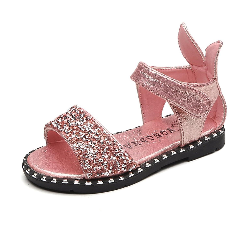 [TWOMS] サンダル ガールズ 真夏 キラキラ 履きやすい お洒落 キッズ 女の子 シューズ プリンセス 心地柔らか 痛くならない 耐磨 可愛い ビーチ 子供靴
