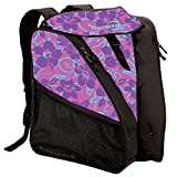 Transpack XTW Women's Ski/Snowboard Boot and Gear Bag Backpack (Pink Floral)