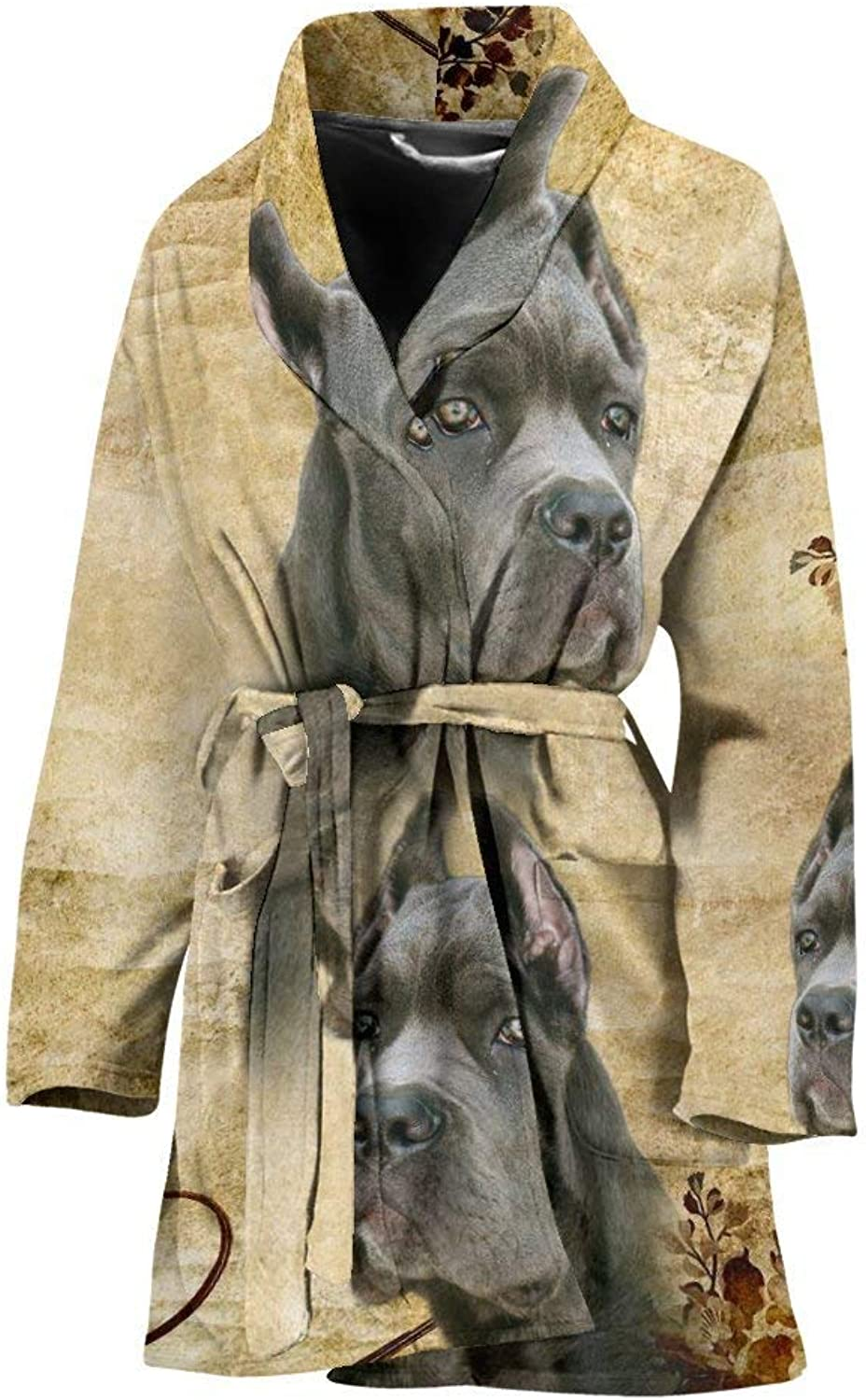 Deruj Cute Cane Corso Print Women's Bath Robe