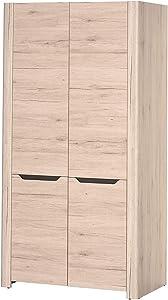 Movian - Armoire 2portes Mira, 98 x 193 x 58cm, Chêne Sanremo