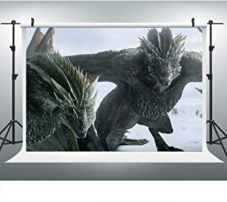 LUCKSTY Customized Dragon Game Thrones Backdrop, 7x5FT, Party Background, Photo Booth Studio Props LHLU766