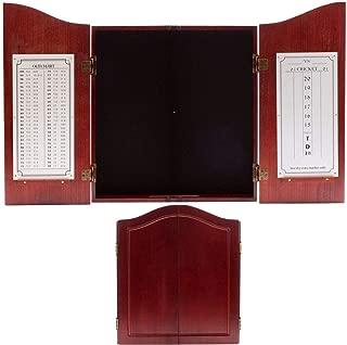 Solid Wood Dartboard Cabinet with Scoreboard. Dart Board Cabinet Only (Dark Cherry)