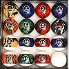 プールテーブル ビリヤードボールセット(レギュラーサイズ) Iszy Billiards社【並行輸入】