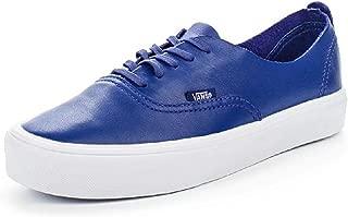 Vans Unisex Leather Authentic Decon Lite Shoes, Blue, 5.5 M US Men/7 M US Women