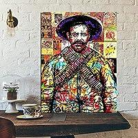 バンクシーストリートグラフィティアートマイケルジャクソンポスターキャンバスプリントのカラフルな絵画現代抽象壁アート家の装飾写真40x60cmフレームなし