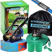 Hyponix Slackline Kit 70' W/ Training Line - Slack Lines For Backyard For Adults - Slackline For Kids - Slackline Beginner Kit - Slack Lines For Children - Balance Rope - Tight Rope Line For Kids