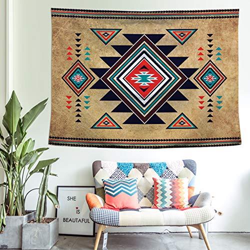 FGVBWE4R Tapiz Colgante de Pared Suroeste Nativo Americano Arte Decorativo de Pared Colchas Aztecas Hojas 150x200cm-150x200cm