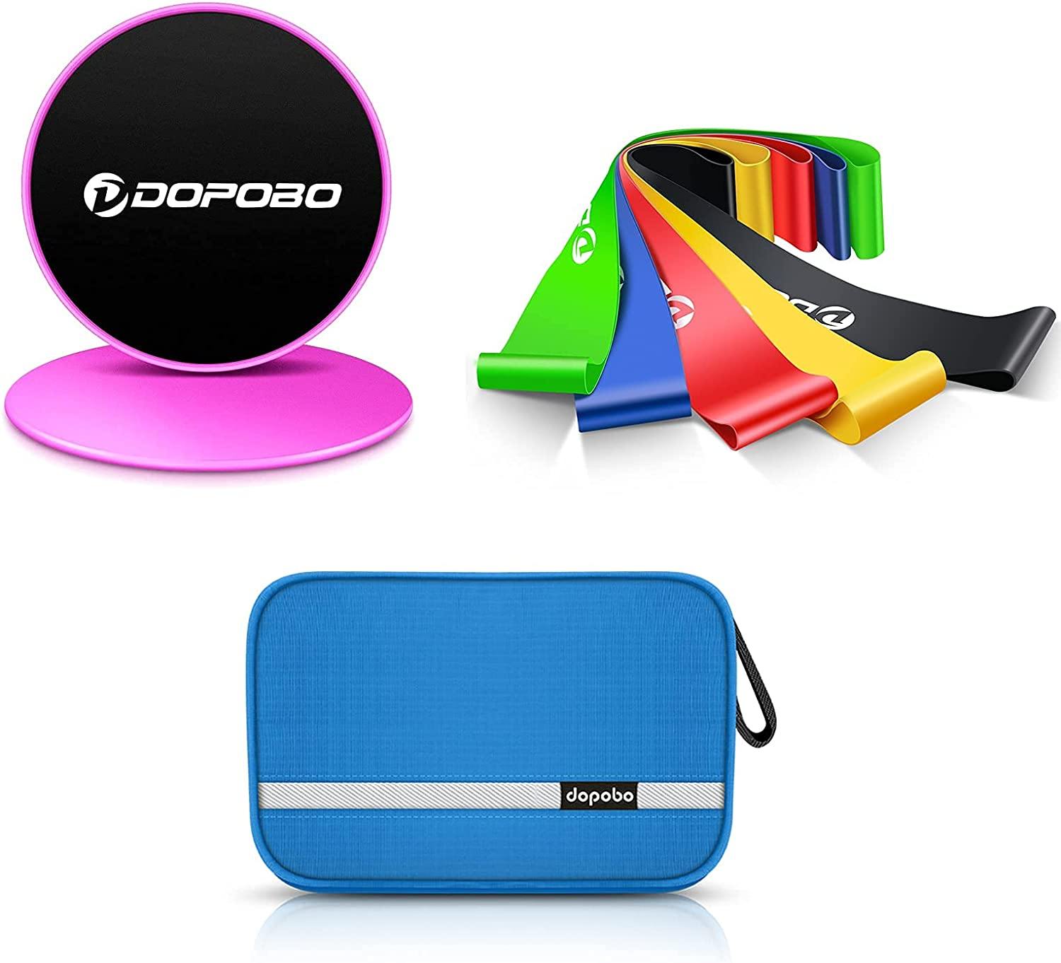 Bundle-Travel Toiletry Bag Blue + set 5 San Antonio Mall Bands Resistance of Special price for a limited time