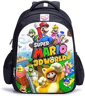 Mochila Mario Bros Sonic Boom de 16 Pulgadas para niños, Mochilas Escolares, Mochila de Libro de Juegos de Dibujos Animado...