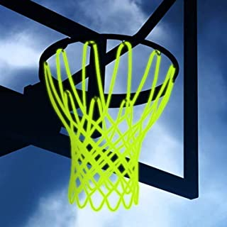 Besmon123 Nightlight Basketball Net Luminous Outdoor Portable Sun Powered Sports Nylon