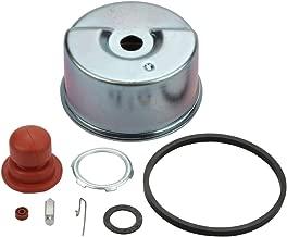 Panari Carburetor Float Bowl & Needle Seat Kit Primer Bulb for Tecumseh Lawn Mower ECV100 LAV35 TVS75 TVS90 TVS100 TVS105 TVS115 TVS120 631843 631902 631902A 632046 632046A Carb