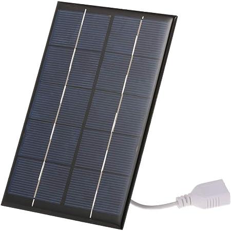 Nuzamas Poartable 5 W Solarpanel 5 V Usb Telefon Iphone Ladegerät Akku Gratis 4 Legierungsclips Garten