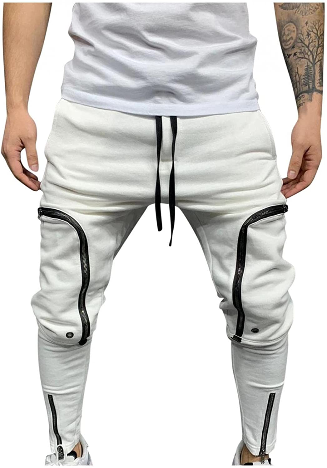 haoricu Men's Casual Loose Gifts low-pricing Patchwork Jo Trousers Sweatpant Color