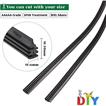 4X 26/'/' 6mm Universal Silicone Windshield Wiper Blade Refill Fit For Car Bus  OS