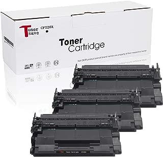 Tonersave CF226X 26X Toner Cartridges Compatible HP 26X for HP Laserjet Pro MFP M426fdw M426dw M426fdn Laserjet Pro M402n M402dn M402d M402dw Printer (Black 3 Pack)