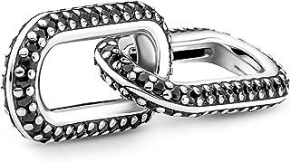 Pandora ME Styling Pavé Doppel-Link aus Sterling Silber, Kompatibel mit Pandora ME Armbänder, Höhe: 8,2mm, 799660C03