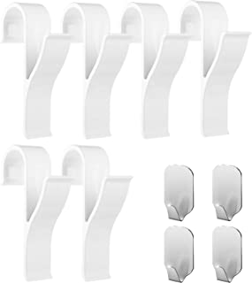 Ganchos para toallero (pack de 10) – 6 piezas de ganchos de plástico ABS para toalleros con radiador, 4 piezas de ganchos para toallas adhesivos – Mantén tu toallero en orden, Handy Picks