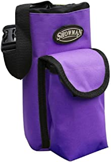 Showman PURPLE Nylon Insulated Cordura Trail Riding Water Bottle Cell Phone Carrier Bag with Pocket and Adjustable Carrier Strap