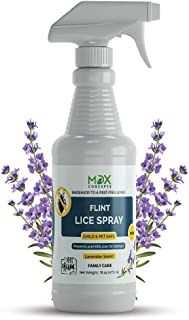 MDXconcepts Organic Lice Killer - Lavender Oil Lice Repellent Spray for Home, Bedding, Belongings – MADE IN USA - Child an...