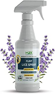 mdxconcepts Organic Lice Killer - Repellent Spray for Home, Bedding, Belongings – Child and Pet Safe – Non Toxic – Non Staining - 16oz