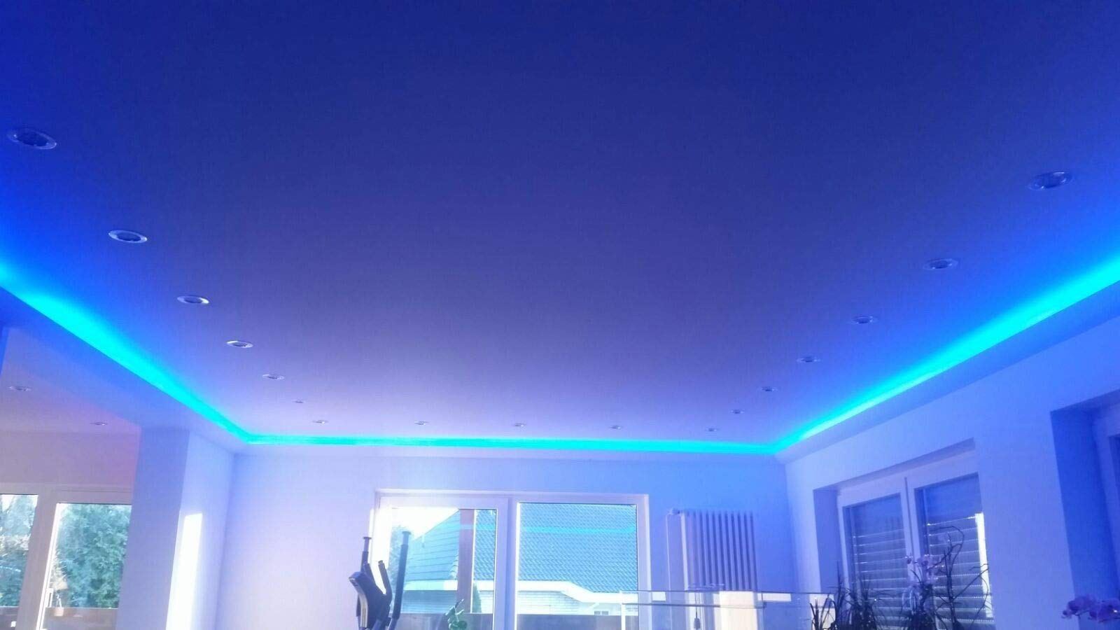 BL 04 26 m + 5 esquinas Perfil de iluminaci/ón LED para techo