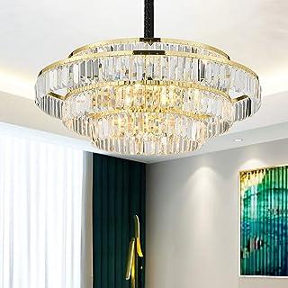 Home Equipment LED Lamp Gold Luxury Transparent Crystal Chandelier European Modern Villa Hotel Restaurant Living Room Dini...