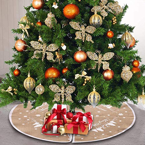 30 Zoll Christmas Tree Skirt mit Christmas Tree,Christbaumständer Teppich,Christmas Tree Rock,Decke Weihnachten Deko,Weihnachten Baum Rock,Weihnachtsdekoration,Weihnachten Baumrock,Weihnachtsbaum Rock