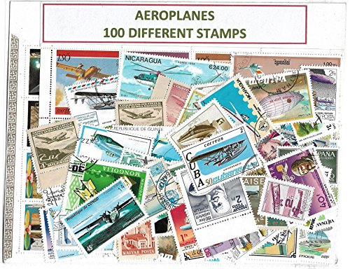 Aeroplane Stamps 100 Different CTO in Coins & Stamps Collecting @ Mahaphilla