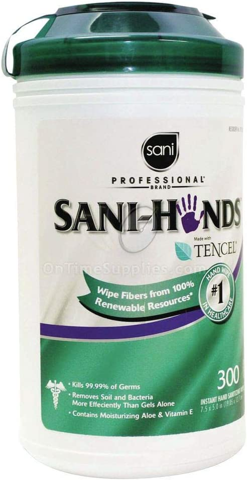 Nice Pak Commercial online shopping P92084 Professional Hand 30 Wipes Sanitizing Max 78% OFF