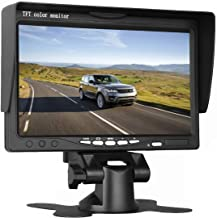 Misayaee Car 7 inch Split Quad Monitor 4 Channel Video Input Full HD Color Image Car Backup Camera System & Home Surveillance Security (7.0