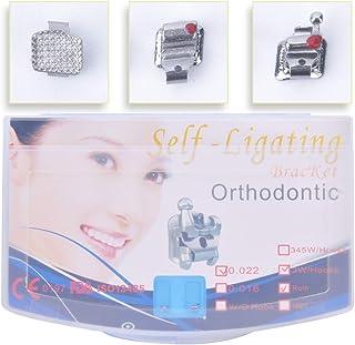 Anhuadental Orthodontic Self-Ligating Metal Bracket 0.022 Roth 3 with Hooks(20 Brackets/Pack)
