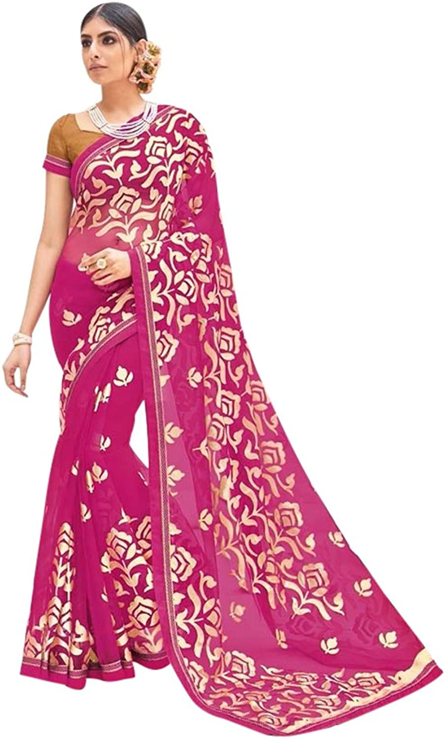New Launch Formal Indian Saree Sari Collection Blouse Wedding Party Wear Ceremony Women Muslim eid 647 10