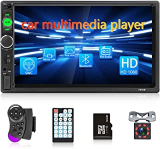 $63 » Double Din Car Stereo Receiver 7'' High Detachable Screen for Car with Bluetooth FM Car Player Support Steering Wheel Cont...
