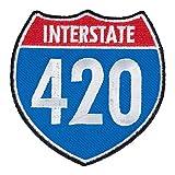 I-420 Road Sign Patch, Marijuana Smoking Patches