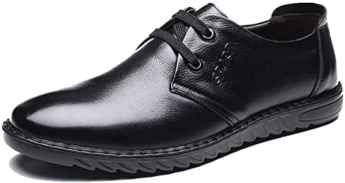 Mzq-yq Souliers de Loisirs Quotidiens pour Hommes, Toe Layer Leather, Hommes
