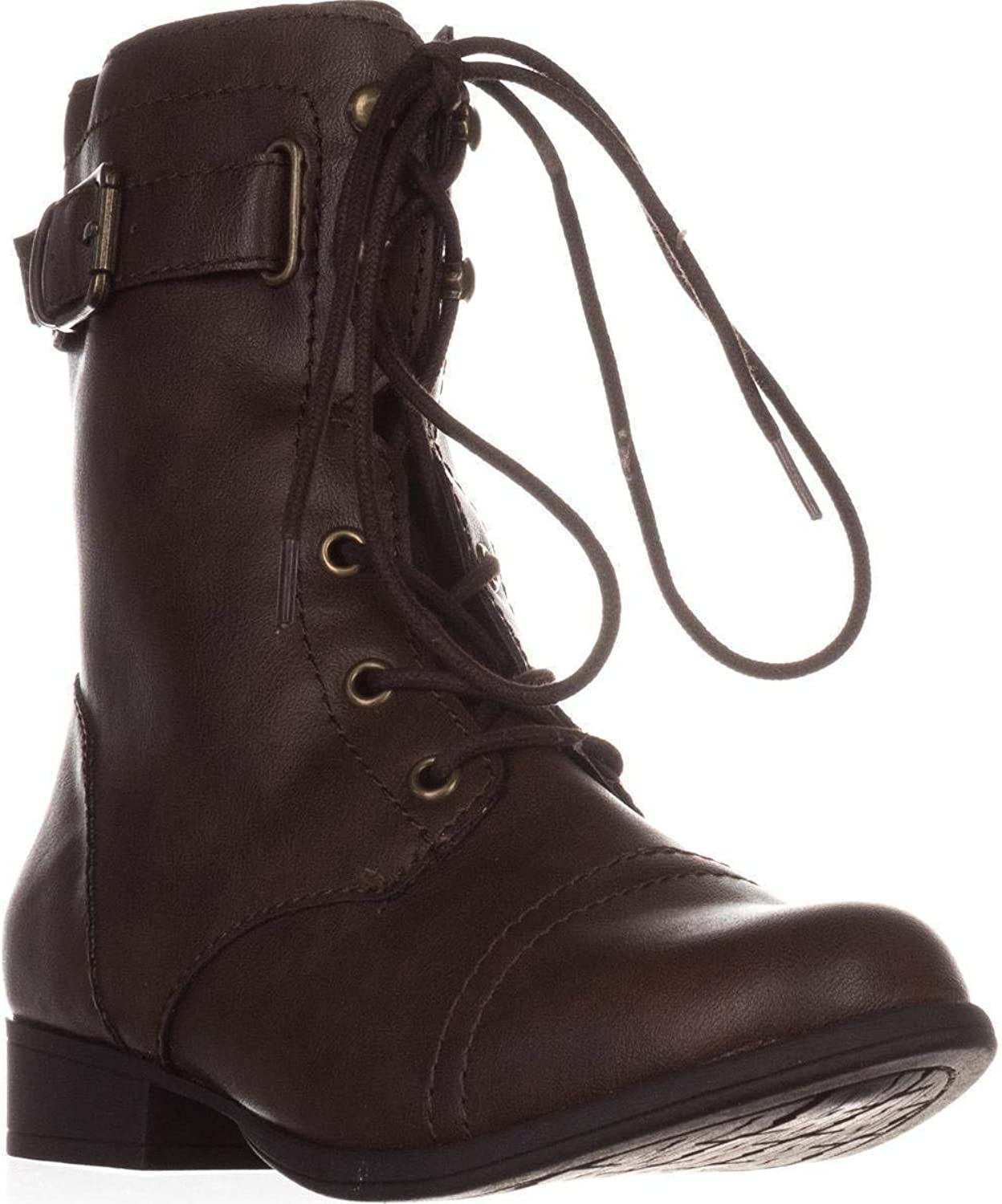 American Rag Womens Fionn Closed Toe Mid-Calf Combat Boots, Brown, Size 6.5