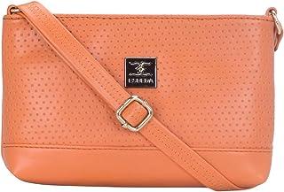 ESBEDA Orange Color Twill Slingbag For Women