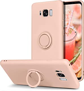 BENTOBEN Samsung Galaxy S8 Case, Slim Silicone Soft Rubber with 360° Ring Holder Kickstand Car Mount Supported Shockproof ...