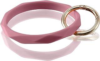 دستبند حلقه کلید Huakan Keychain دستبند سیلیکونی زنانه و دخترانه به شکل الماس