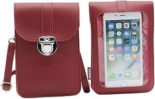 Hongping lady portafoglio borsa a tracolla in pelle portafoglio cellulare mini borsa porta carte tasca portafoglio a spalla