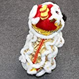 Newfly Dragon Cat Dog Costume Lion Dance Clothing -Outdoor Warm Dog Winter Coats -Chinese New Year Style Funny Stuff Costume -Pet Hoodie Jacket Outfit Apparel for Small Dogs