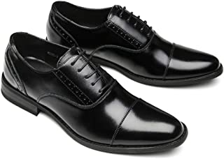 Agustin JP ビジネスシューズ 革靴 本革 メンズ 紳士靴 防滑 通気性 軽量 AG-3(ブラック、ブラウン)24.5cm-27.0cm