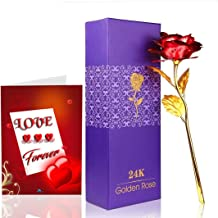 SKYTRENDS Creatives 24K Gold Rose with Gift Box and Greeting Card st-06