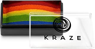 Kraze FX Dome Stroke - Really Rainbow (25 gm), Professional 1-Stroke Split Cake, Hypoallergenic, Non-Toxic, Water Activate...