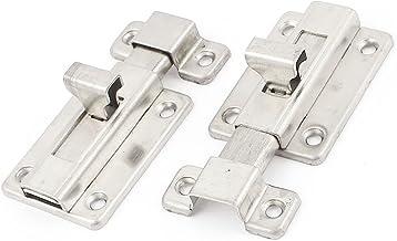 4 stuks 2 inch zilver tint 4 mm diameter deurvergrendeling bouten bouten