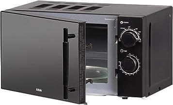 BBK, 20MWS-773M/B-M, Microondas Negro con puerta espejo, 20 litros, 700 W