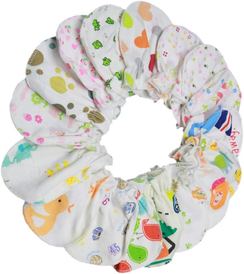 Healifty 20 Pairs Baby Gloves Mitts Unisex Toddler No Scratch Mittens Infant Gloves Newborn Mittens Anti Scratching Gloves for Newborn Baby Toddler