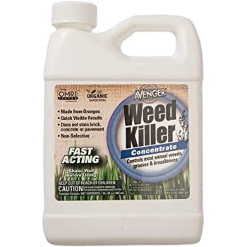 AVENGER Organic Weed Killer, biodegradable, non-toxic - Concentrate 32oz